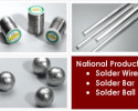 National Products Lead-Free Solder Wire / Bar / Ball